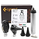 Cynamed 2-in-1 Ear Scope Set - Multi-Function Otoscope for Ear, Nose & Eye Examination- Kit for Home and Medical Students - Sight Chart, Replacement Tips, and Carry Case