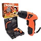 JoyTown Kids Real Power Drill Set – Electric Cordless Drill Tool Kit for Children with Interchangeable Bits, Flexible Shaft, Charger, All in Carrying Case, Learning Tools for Boys & Girls Home DIY