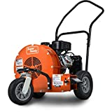 SuperHandy Leaf-SNOW Blower Wheeled Walk Behind Jet Sweep Manual Propelled Powerful 7HP 212cc 4 Stroke OHV Motor Output Wind Force of 200 MPH / 2000 CFM at 3600RPM Aids in Fire Prevention