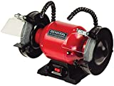 GENERAL INTERNATIONAL 6' Bench Grinder - 1/3 HP Benchtop Grinding Machine with 3400 Max RPM & Twin LED Worklights - BG6001