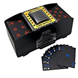 LIIBOT 2 Deck Automatic Card Shuffler with 1 Deck of Playing Card, Great for UNO, Texas Hold'em, Poker, Home Card Games, Blackjack, Battery Operated Electric Poker Shuffling Machine
