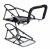 OL'MAN TREESTANDS Multi-Vision Climbing Stand, Steel Construction with 21' Wide Net Seat, Gray, One Size (COM-04)