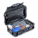 Evergreen 56 Waterproof Dry Box Protective Case - Travel Safe/Mil Spec/USA Made - for Tackle Organization of Cameras, Phones, Camping, Fishing, Hiking, EDC, Water Sports, Knives (Black)