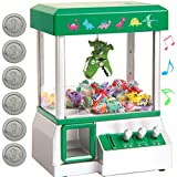 Bundaloo Claw Machine Arcade Game   Candy Grabber & Prize Dispenser Vending Toy for Kids with Sound   Best Birthday & Christmas Gifts for Boys & Girls (Green Dinosaur)