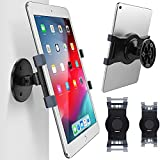 AboveTEK iPad Wall Mount, Swivel 360° Rotating Tablet Holder Two Brackets to Fit 6-13' Tablets, Horizontal/Vertical Tilt iPad Arm for Flexible Viewing Angles in Kitchen House Showroom Retail Store