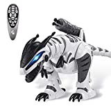 Dollox Remote Control Dinosaur Robot RC Interactive Electronic Pet Dinosaur Programmable Robotic Dino T-rex Toys with Fight Mode Walking Singing Dancing Shooting Gift for 3-10 Year Old Kids