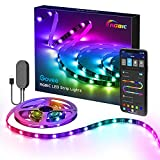 Govee RGBIC TV LED Backlight, LED Lights for TV with APP Control, Music Sync, Scene Modes, 6.56FT RGBIC Color Changing Strip Lights for 30-50 inch TVs, USB Powered