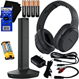 Sony Bluetooth Wireless Over Ear for TV Watching Wireless Noise Canceling Headphones (WHRF400R) Includes Transmitter Dock (TMRRF400) Rechargeable Battery Connecting Cables AC Adaptor Cleaning Cloth
