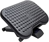 HUANUO Adjustable Under Desk Footrest - Ergonomic Foot Rest with 3 Height Position - 30 Degree Tilt Angle Adjustment for Home, Office, Non-Skid Massage Surface Texture Improves Posture and Circulation