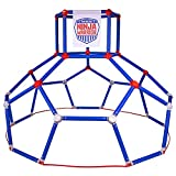 Lil' Monkey American Ninja Warrior Dome Climber Kids Active Climbing Toy Outdoor Backyard Playground Jungle Gym Swinging and Climbing Fun for Toddlers Aged 3 to 6