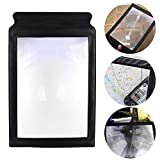 Valuu A4 Magnifier Full Page Reading Magnifier 3X Magnifying Power Large Sheet Magnifying Glass Reading Aid Lens Fresnel for Books Menus Newspapers Improve Elderly Poor Eyesight for The Elderly Gift