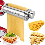 Electric Pasta Maker Attachment Dough Roller for All Kitchenaid Mixers, Noodle Ravioli Dumpling Maker with 8 Different Thicknesses Setting, Kitchen Aid Mixer Accessory Stainless Steel 1 Pack