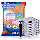 8 Jumbo Clothing Storage Bags Vacuum (40'x30') Space Sealer Bags Saver for Comforters Clothes Blankets Travel & Home 80% More Space Saver Hand Pump Included