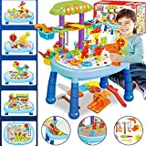 STEM Toys for 3 4 5 6 7 8 9 10 Year Old Building Toys for Kids Ages 4-8 417 PCS Creative Mosaic Drill Set Electric DIY Educational Learning Toys STEM Activities Xmas Gifts for 3-10 Year Old Boys Girls