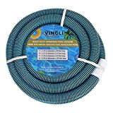 VINGLI 1-1/2-Inch by 55-Feet Pool Hose Commercial In-Ground and Above-Ground Pool Swimming Pool Vacuum Hose, Blue