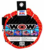 WOW World of Watersports 4k 60 ft. Tow Rope with Floating Foam Buoy 1 2 3 or 4 Person Tow Rope for Boating, 11-3010