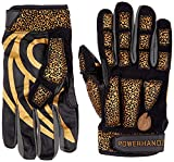 POWERHANDZ Weighted Anti-Grip Basketball Gloves for Strength and Resistance Training - Improve Dexterity and Arm Strength - X-Large,BLACK/GOLD