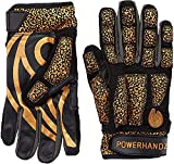 POWERHANDZ Weighted Anti-Grip Football Gloves for Strength and Resistance Training - Improve Dexterity and Arm Strength,Black,Large,FOOT-AGGLV-L