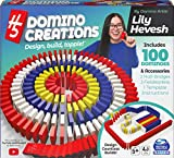 H5 Domino Creations 100-Piece Set by Lily Hevesh, Family Game for Adults and Kids Ages 5 and up