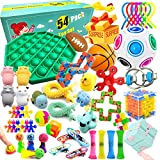 Sensory Fidget Toys Set, 54 Pcs, Relieves Stress and Anxiety Fidget Toy, Special Needs Stress Reliever Toys for Kids Adults, Sensory Therapy Toys for ADHD Autism Stress Anxiety