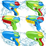 iBaseToy Water Gun for Kids - 6 Pack Super Squirt Guns, 17 Feet Long Range& High Capacity Water Pistols, Water Soaker Blaster for Boys Girls Adults Pool Beach Party Outdoor Game Summer Fighting Toys