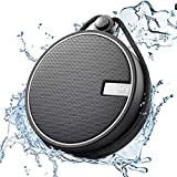 INSMY C12 IPX7 Waterproof Shower Bluetooth Speaker, Portable Wireless Outdoor Speaker with HD Sound, Support TF Card, Suction Cup for Home, Pool, Beach, Boating, Hiking 12H Playtime (Black)