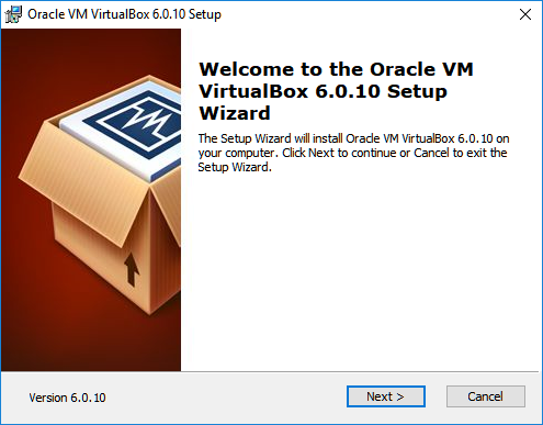 Oracle VM VirtualBox Setup Wizard