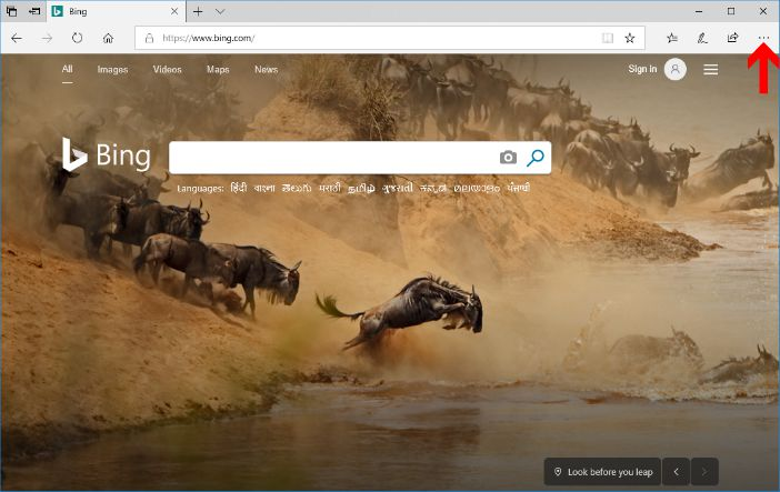 microsoft edge browser default home page