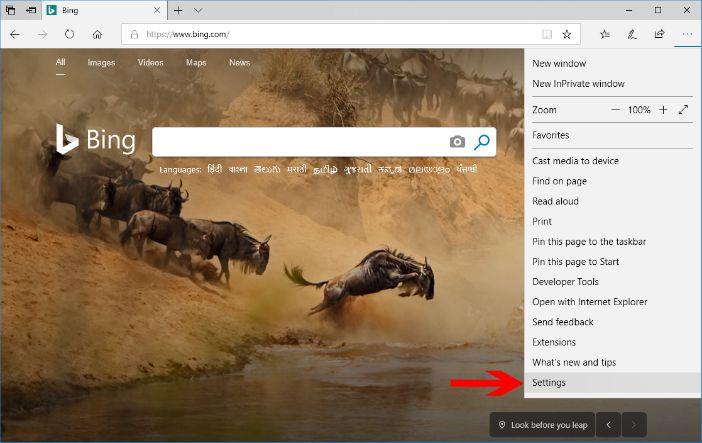 microsoft edge browser settings