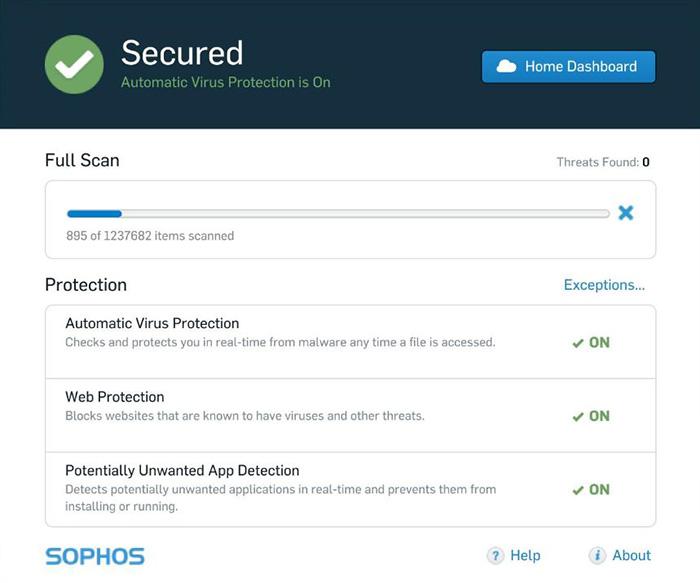 sophos home free antivirus suite
