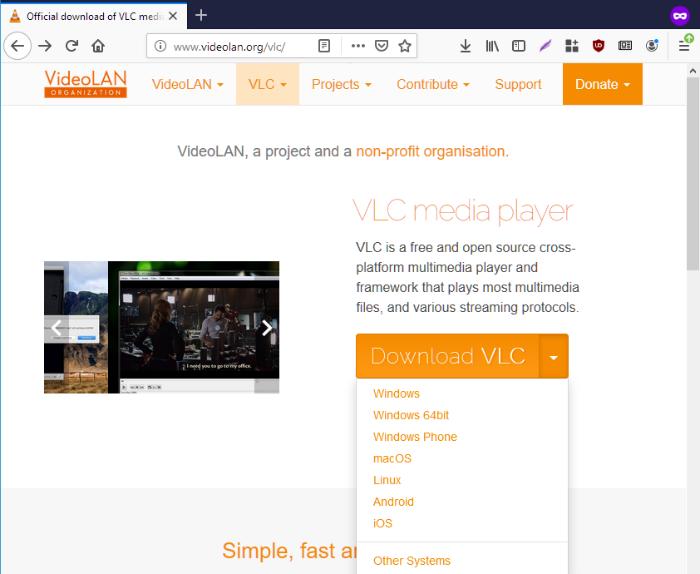 vlc media player download website