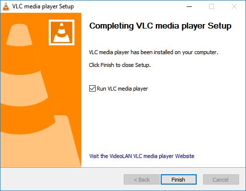 vlc media player install finish