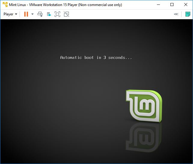vmware workstation player mint linux automatic booting 1