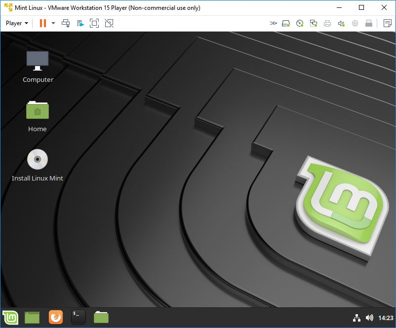 vmware workstation player mint linux automatic booting 3